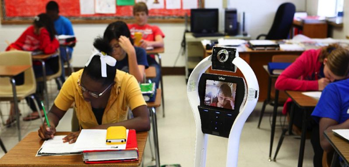 Telepresence Robot in a Classroom