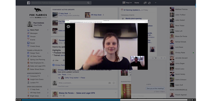 Workplace by Facebook Video Chat