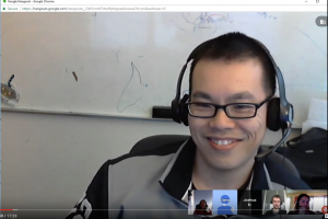 One of our Google Hangouts. Bonus, the screenshot was done with Snagit