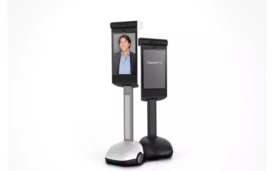 The BeamPro 2 Telepresence Robot Has Wide-Angle Hd Cameras and a 24-Inch Touchscreen