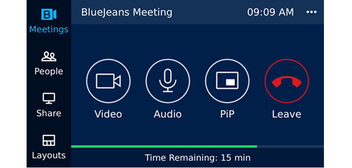 BlueJeans Dolby Meeting Controls