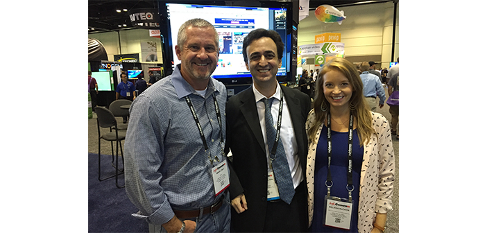 AGT's Mark Cray and Melissa Hudson with LDV's David Maldow at InfoComm 2015