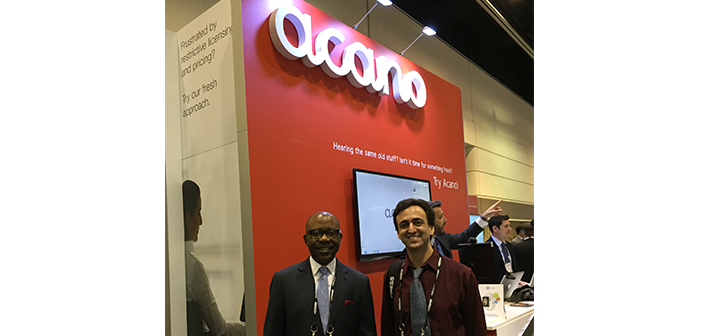 Acano's Larry Satterfield and LDV's David Maldow at InfoComm 2015