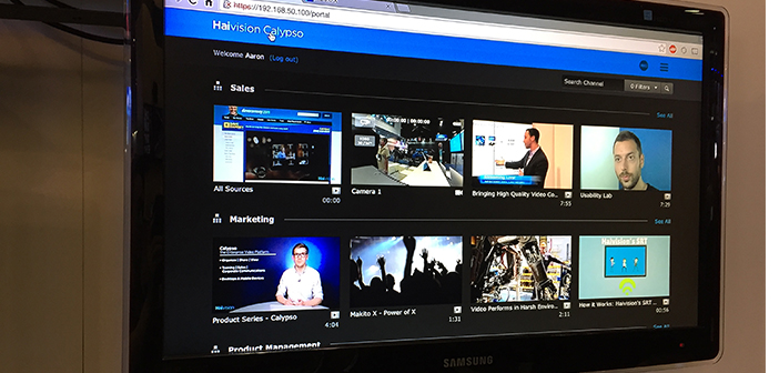 Haivision Calypso's Video Library Interface at InfoComm 2015