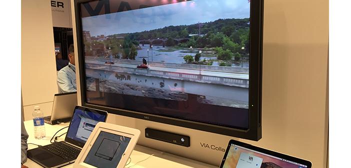 Kramer Via Collage providing full motion video wireless share.
