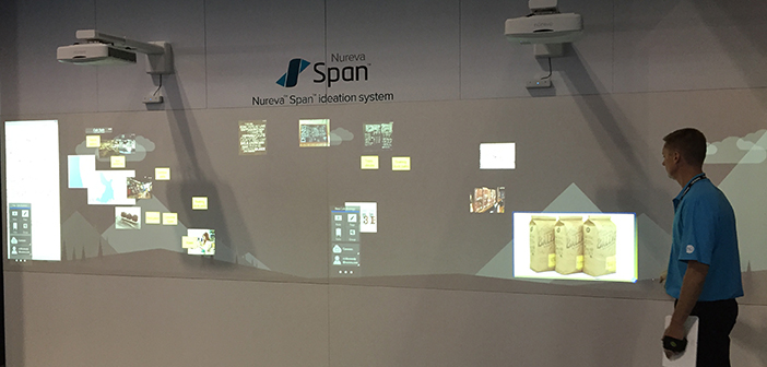 The Nureva Span canvas at InfoComm 2015.