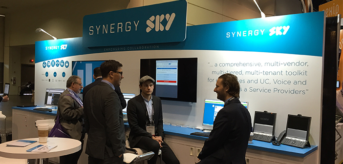 The Synergy Sky booth at InfoComm 2015