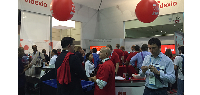 "Videxio's ""Red Zone"" cocktail hour at InfoComm 2015"