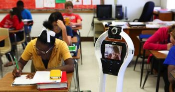 Telepresence Robot in a Classroom