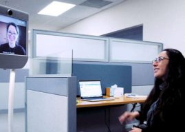 Telepresence Robots Keep Teleworkers Better Connected