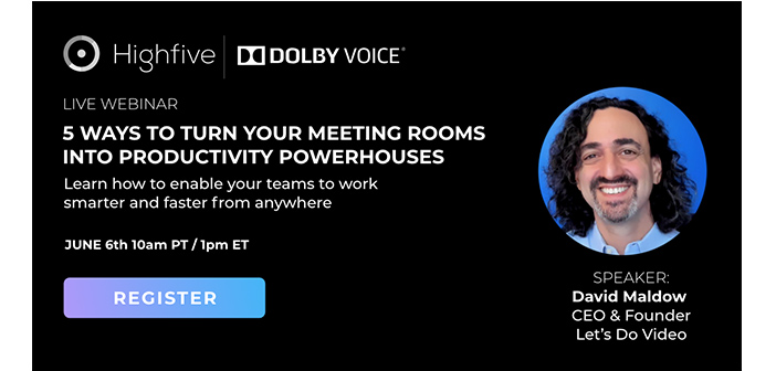 Webinar: 5 Ways To Turn Your Meeting Rooms Into Productivity Powerhouses